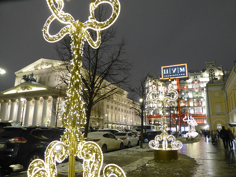Bolshoi-Theater, Weihnachten Moskau 2017