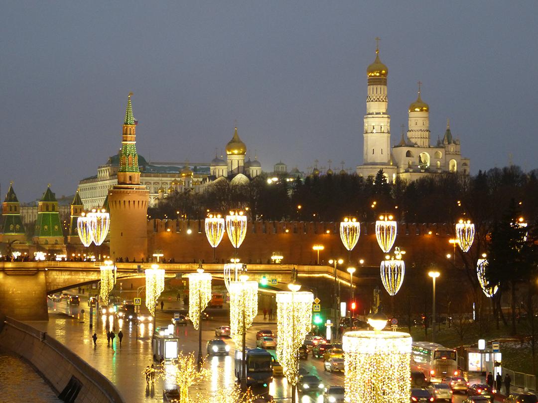 Kremel, Weihnachten Moskau 2017